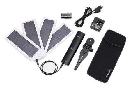 AmbienTec SolarFan portable solar charger package
