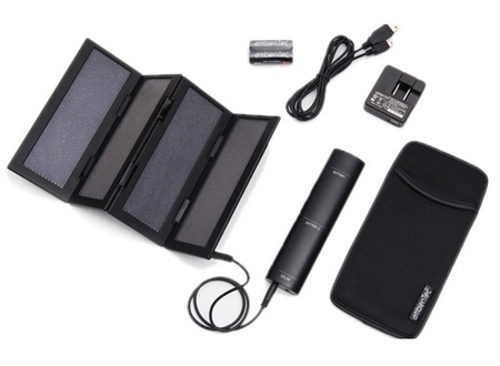 AmbienTec SolarFold portable solar charger package