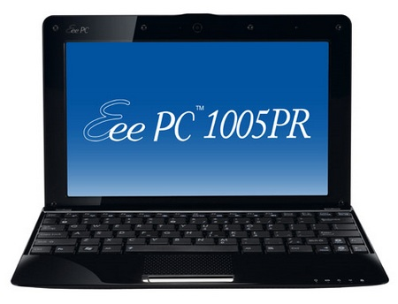 Asus Eee PC 1005PR Seashell Netbook with Broadcom Crystal HD Media Processor front