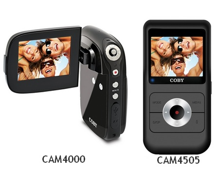 Coby Snapp CAM4505 and CAM4000 Pocket Camcorders