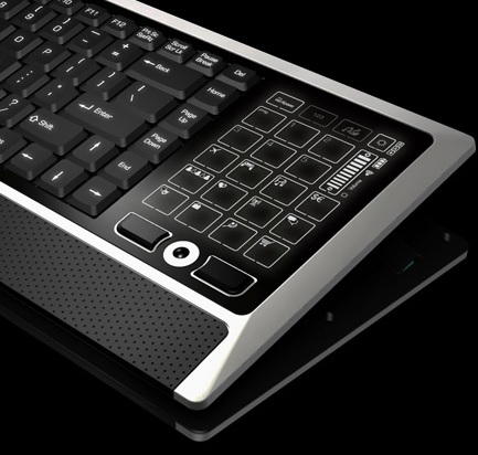 Eclipse LiteTouch Wireless Keyboard LCD touch panel