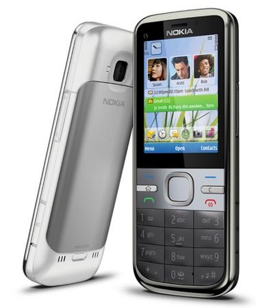 Nokia C5 Candybar Smartphone runs S60 3rd edition 1