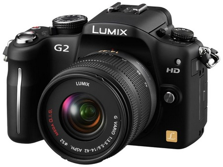Panasonic Lumix DMC-G2 Micro Four Thirds Camera angle