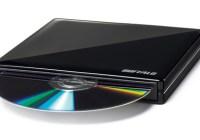 Buffalo DVSM-PS58U2-S-BK Lightweight Portable DVD Burner