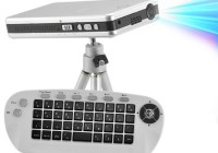 CVOB-E72 Mini Projector with Linux, WiFi and QWERTY keyboard