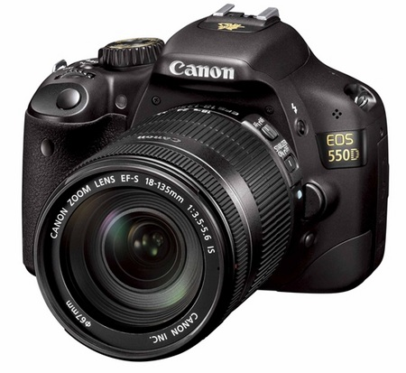 Canon EOS 550D DSLR Jackie Chan Eye of Dragon Edition front angle