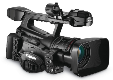 Canon XF305 and XF300 Professional Camcorders front