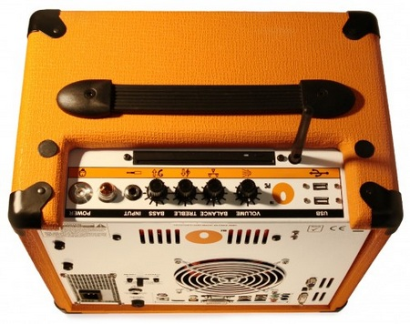 Orange Amplifier OPC Computer Amplifier Speaker top