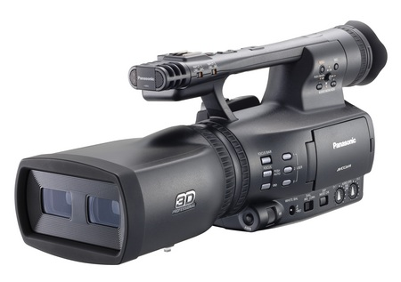 Panasonic AVCCAM AG-3DA1 Full HD 3D Professional Camcorder angle