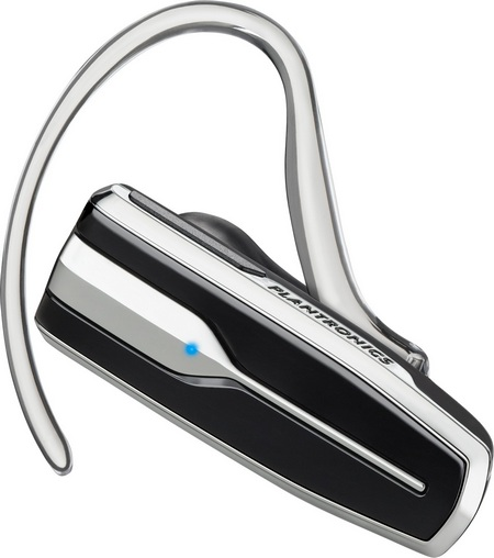 Plantronics Explorer 395 Bluetooth Headset with chrome finish
