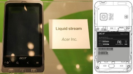 Acer Liquid Stream S110 Android Phone with SnapDragon and 720p video