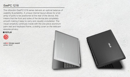 Asus Eee PC 1218 to get NVIDIA Ion 1