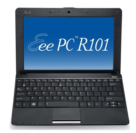 Asus Eee PC R101 with Carbon Fiber Finish