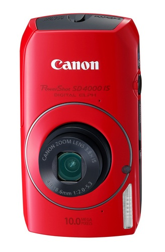 Canon PowerShot SD4000 IS Digital Camera with the HS System RedDigital