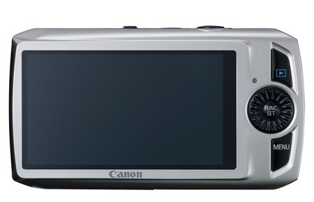 Canon PowerShot SD4000 IS Digital Camera with the HS System back