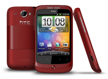 HTC Wildfire Android Phone red