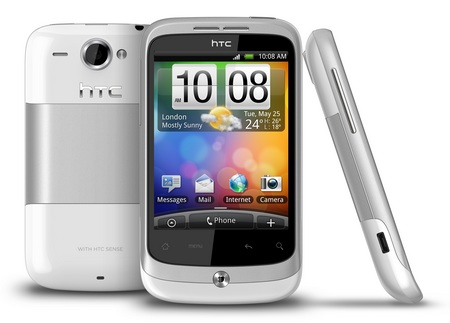 HTC Wildfire Android Phone white