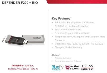 Imation Defender F200+Bio Secure USB flash drive