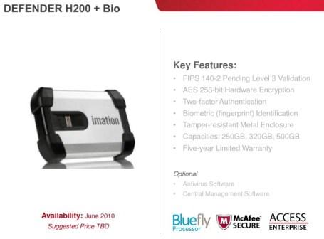Imation Defender H200+Bio Secure external hard drive