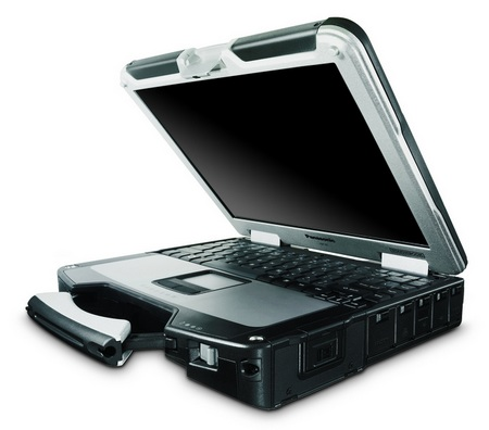 Panasonic Toughbook CF-31 Fully-Rugged Notebook open left