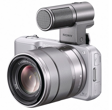 Sony NEX-5 Ultra-Compact DSLRs with ECM-SST1 microphone