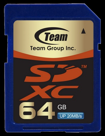 TEAM 64GB SDXC heading to Computex 2010