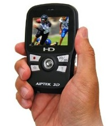 Aiptek DDD11X 3D-HD 720p Camcorder on hand