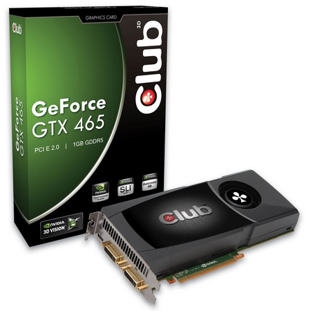 Club 3D GeForce GTX465 Graphics Card