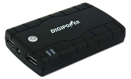 DigiPower JumpStart Dual Portable AC Adapter with Built-In Rechargeable Battery