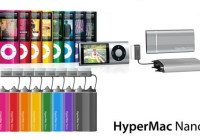 HyperMac Nano Portable Battery with built-in cable