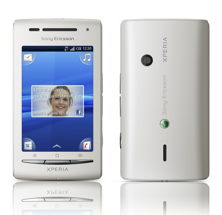 Sony Ericsson Xperia X8 Android Smartphone front back