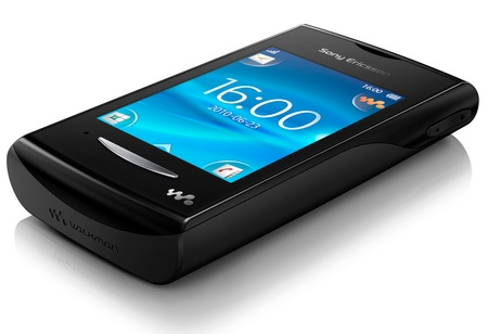 Sony Ericsson Yendo Touchscreen Walkman Phone angle