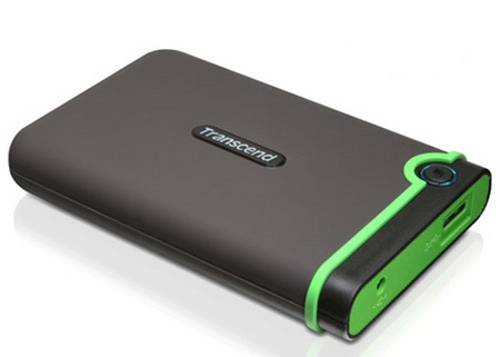 Transcend StoreJet 25M3 USB 3.0 Shockproof Portable Hard Drive