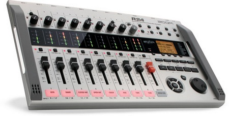 Zoom R24 multi-track recorder, an audio interface, a control surface and a pad sampler