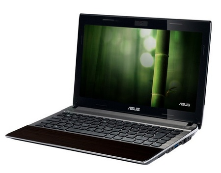 Asus Bamboo U33Jc and U53Jc Notebooks angle