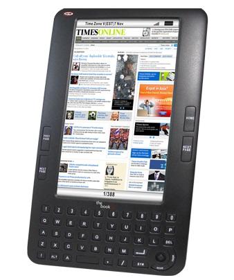 Augen The Book 7-inch e-book reader