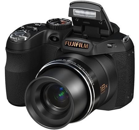 FujiFilm FinePix S2800HD 18X Zoom Camera angle flash
