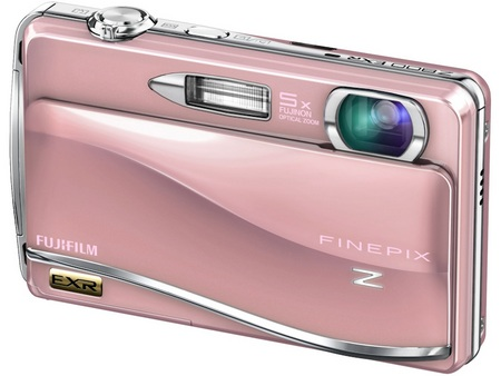 FujiFilm FinePix Z800EXR Touchscreen Camera pink