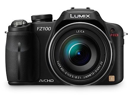 Panasonic LUMIX DMC-FZ100 Camera with 24x Zoom and Full HD Video Recording front