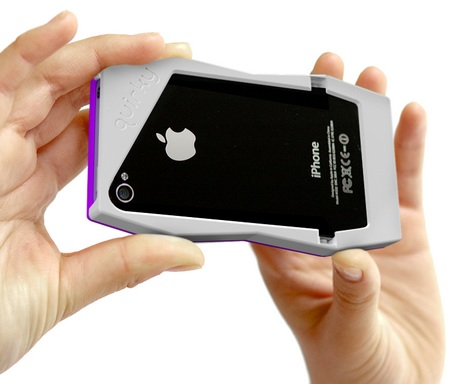 Quirky Tilt iPhone 4 Case Doubles as a stand back