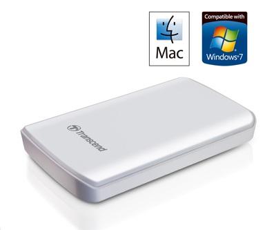 Transcend StoreJet 25D2-W Mac-friendly Portable Hard Drive