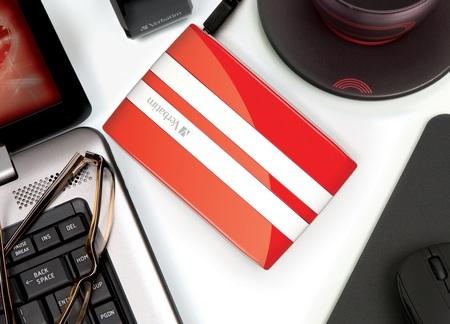 Verbatim GT Car Racing-Inspired Portable Hard Drive red