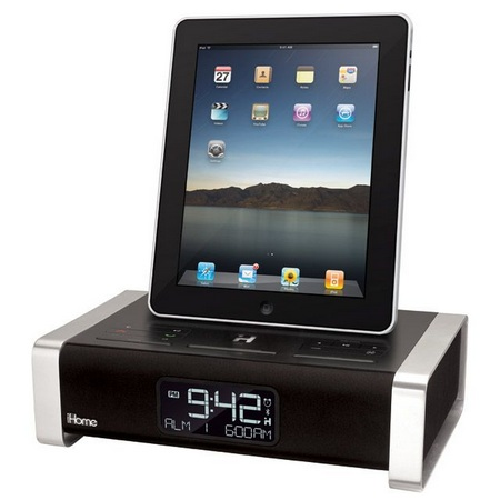 iHome iA100ZE App Enhanced Alarm Clock Docks iPad