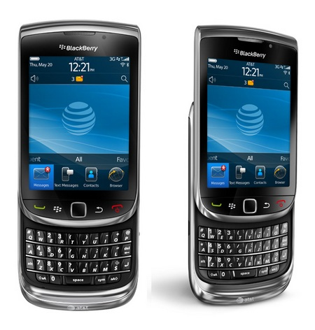 AT&T BlackBerry Torch 9800 Smartphone slide-out