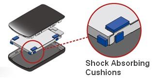 Buffalo HD-PST320U2-BK Shockproof Portable Hard Drive cushions