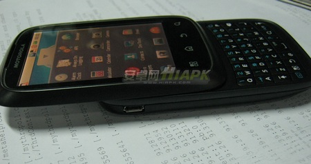 Motorola XT300 Android QWERTY Slider side 1