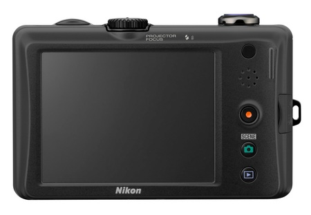 Nikon CoolPix S1100pj Projector Camera back
