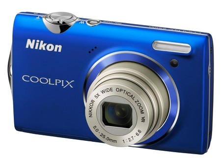 Nikon CoolPix S5100 Point-and-Shoot Camera with 720p Video blue