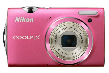Nikon CoolPix S5100 Point-and-Shoot Camera with 720p Video pink