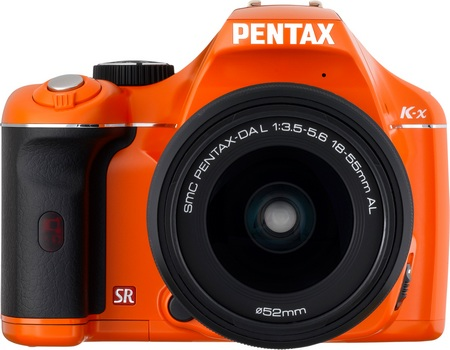 Pentax K-x DSLR orange